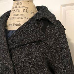IZ brand dark gray pea coat. Hood. Size XL. NWT